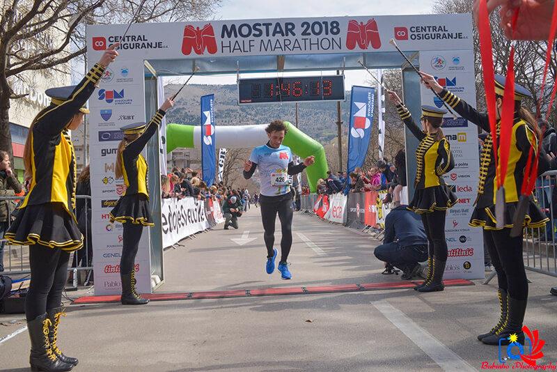 Mostar Half Marathon 2018 - Finish time 1:46:01