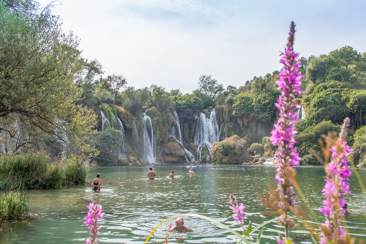 Kravica waterfalls - not a daily swimming spot
