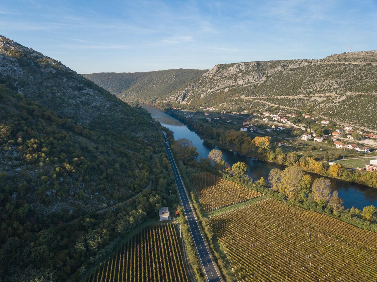 Tasting wine in Herzegovina